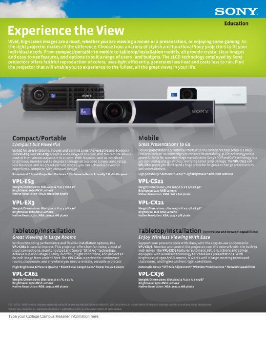 Brochure - Projector